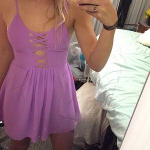 rare LF lattice front dress